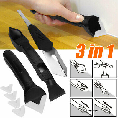£3.39 • Buy 3In1 Silicone Remover Caulk Finisher Sealant Smooth Scraper Grout Kit Tools New.