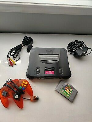 $ CDN124.99 • Buy N64 Console Smoke Grey With Super Mario 64 - Controller / Cables / Jumper Pak