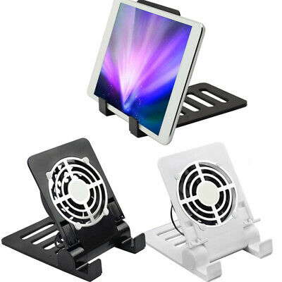 AU18.35 • Buy USB Phone Fan Quiet Cooling Pad Radiator Foldable Holder Stand For IPhone IPad