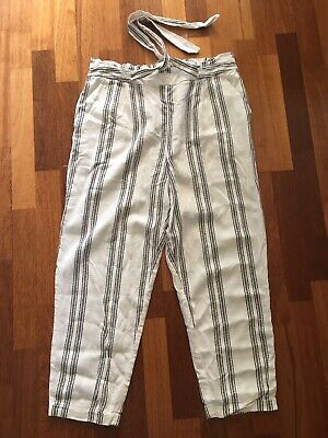 £5 • Buy Linen Blend Trousers By F&F. Size 12.