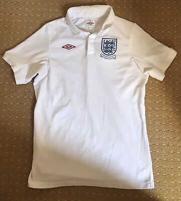 £0.99 • Buy England T-shirt World Cup 2009 2010 South Africa Umbro Size 158 White