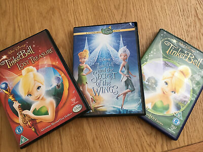 £0.99 • Buy Tinkerbell Dvd's- Tinkerbrll,Lost Treasure & Secret Of The Wings