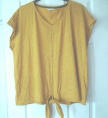 £8.50 • Buy  Immaculate Mustard Yellow Top By White Stuff -  Size 20
