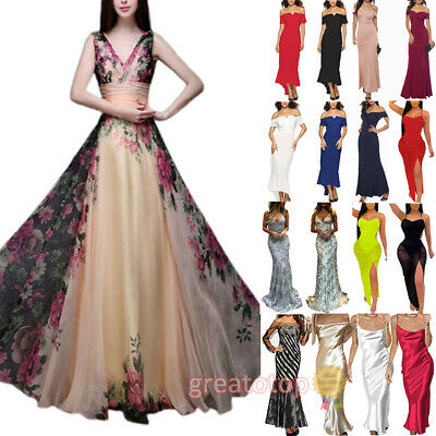 £22.39 • Buy Womens Ladies Formal Evening Party Dress Cocktail Gown Prom Ball Maxi Dress UK
