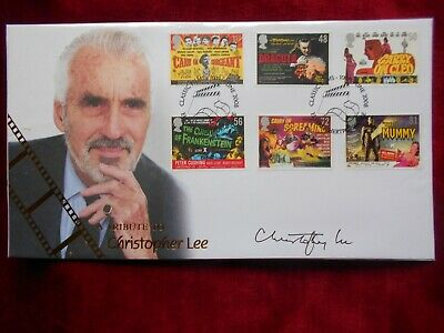 £85 • Buy Fdc - Signed By Christopher Lee (film Star) - Dracula - Excellent