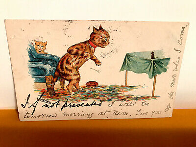 £12 • Buy Old Postcard Louis Wain Cats & Mouse Posted March 10th 1905