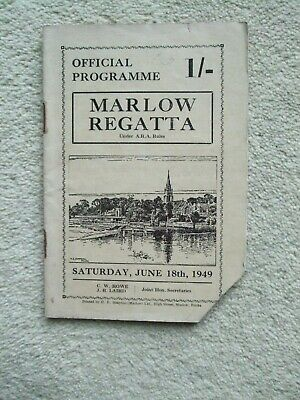 $ CDN2.57 • Buy Official Programme Cost One Shilling For Marlow Regatta June 18th, 1949