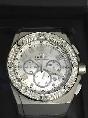 £159.35 • Buy TW Steel CE4005 CEO Tech 44MM Men's Chronograph GRAY Leather Watch NEW