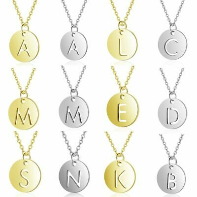 £4.70 • Buy Charm Necklace Stainless Steel Initial Vnistar Simple Design Alphabet 26 Letter