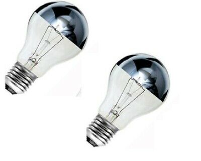 £7.49 • Buy 2 X Crown Silver Top Reflector Dimmable GLS Light Bulb 60w ES GE