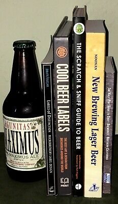 £22.27 • Buy 5 Beer & Home-Brewing Books Instant Library Man Cave Bar Decor Props Staging
