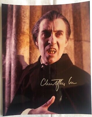£179 • Buy Christopher Lee Autographed Photo As Dracula With COA