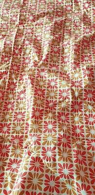 £4.99 • Buy Original Vintage 60's/70's Midcentry Orange Curtains 34 X 41 Inches