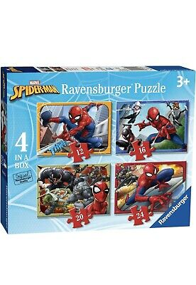 £3.90 • Buy Brand New Ravens Burger Spider Man 4 In A Box Puzzle For Kids Age 3 And Up
