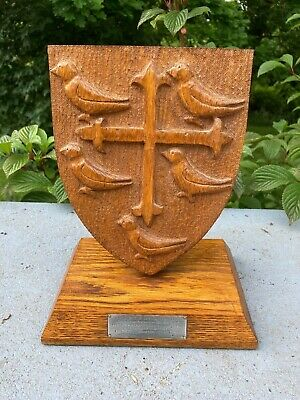 £39.95 • Buy Oak Plaque University College Oxford Maurice Shock Carved From Kitchen Stairs