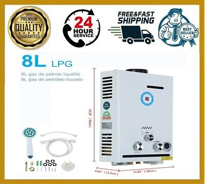 £89.81 • Buy Water Heater Propane Gas Lpg Tankless 8 4.8gpm Stainless Steels US 1-5 Days