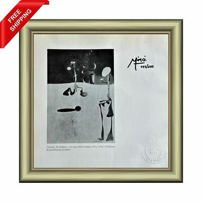£14.52 • Buy Joan Miro Original Print - Signed And Stamped By Gallery With COA