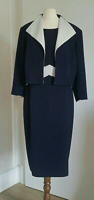 £13.83 • Buy Roman Navy And White  Dress And Jacket Size 18
