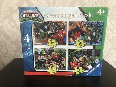 £7.99 • Buy Ravensburger Marvel Ultimate Spider-Man Jigsaw Puzzle 4 In A Box 12-24 Pieces
