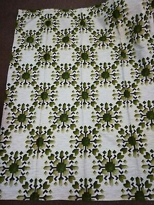 £9.95 • Buy New Vintage 70s Green Curtains 54d X 41w