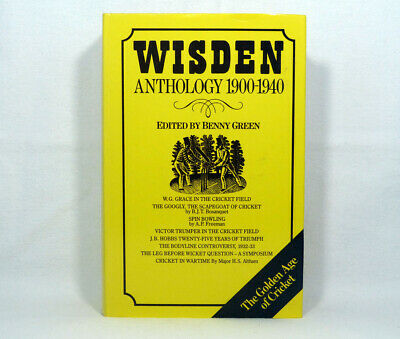 £5.99 • Buy Wisden Anthology 1900-1940 Book Edited By Benny Green