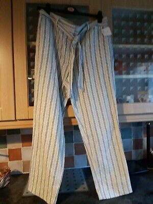£3.99 • Buy Ladies Summer Trousers, Linen  And Cotton Size 16 Bnwot