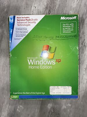 £20.52 • Buy Microsoft Windows XP Home Edition With Service Pack 2, New In Open Box