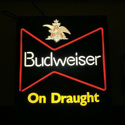 $ CDN67.23 • Buy Vintage Budweiser Lighted Beer Sign - Fully Functional, 100% Authentic 🍻