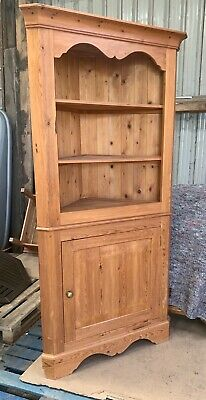 £80 • Buy Large Pine Corner Display Cabinet Cupboard Open Shelves Country Style Unit Wood