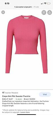 AU200 • Buy NWT Crepe Knit Top In Stock In US Sold Out In Aus  Size M Fit 8 10 12