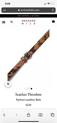 AU70 • Buy NWT Scanlan And Theodore Python Leather Belt  RRP 220 Current Season