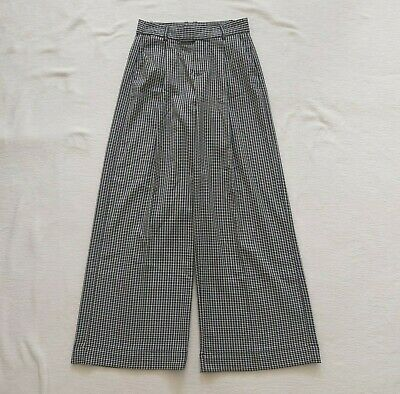 £29.99 • Buy GAP NWOT Oxford Bags Trousers Masculine Turn Ups Baggy Dogtooth Check UK 8 US 4
