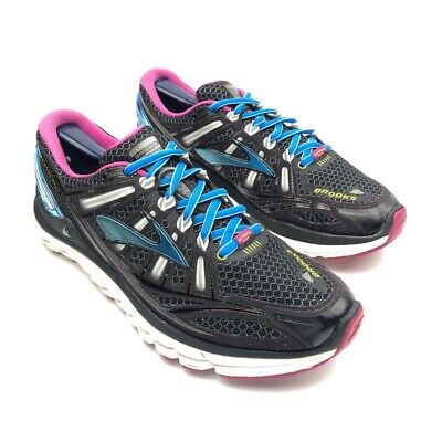 $ CDN47.17 • Buy Brooks Transcend Ultimate Ride Shoes Womens Running Sneakers Black/Blue Size 9.5