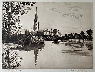 £45 • Buy Andrew Watson Turnbull Signed Print Of Salisbury Cathedral