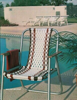 $12.44 • Buy Vintage Macrame Chair Plant Hangers Home Decor Pattern Instruction Craft Book