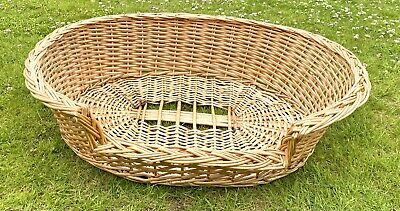 £30 • Buy Vintage Wicker Woven Pet Bed Basket Large Round Strong 30 X 20 Inches Cat Or Dog