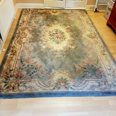 £64 • Buy Aubusson  Chinese Oriental Design Quality Rug  Super Thick Blue 9ft X 6ft