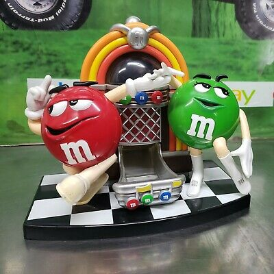 $18.99 • Buy M&M's Mars Rock'n Roll Cafe Jukebox Candy Dispenser Mr. Red And Mrs. Green