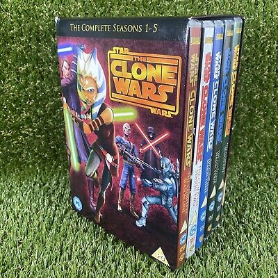 £44.99 • Buy Star Wars The Clone Wars - Complete Seasons 1-5 - DVD Box Set - R2 - Tested