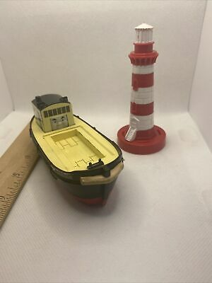 £7.24 • Buy Thomas&Friends Trackmaster BULSTRODE Barge Cargo Tugboat Train 2006 & Lighthouse