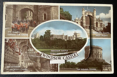 £1.49 • Buy Vintage Windsor Castle Novelty Postcard With 12 Pull Out Photos-posted 1958