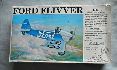 £7.50 • Buy Ford Flivver 1/48 Scale Model Aircraft By Williams Bros Inc, Ca.