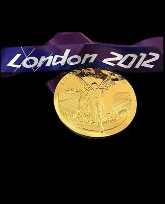 £18.99 • Buy Most Selling Coin 2012 London Olympic 'Gold' Medal+ Ribbon ORIGINAL Size,weight