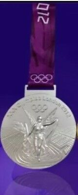 £18.99 • Buy Most Selling Coin 2012 London Olympic 'Silver' Medal+ Ribbon ORIGINAL Heavy Size
