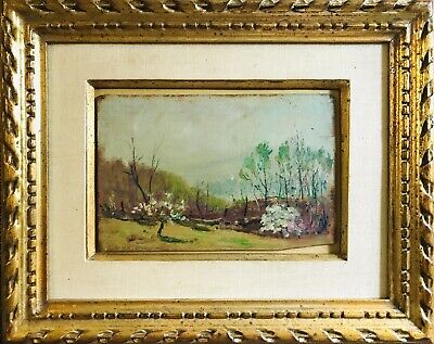 $30 • Buy Antique GEORGE ELMER BROWNE (1871-1946) Landscape Sailboat Oil Painting MA CT NY