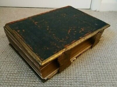 £19.99 • Buy Large Antique Illustrated Family Bible Illustrations Maps Engravings C1872