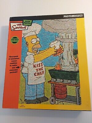 £7.75 • Buy The Simpsons Homer The Chef Photomosaics 1000 PiecePuzzle FREE P&P