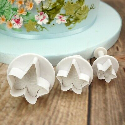 £3.99 • Buy Ivy Leaf Fondant Plunger Cutters Christmas Cake Pastries Baking NEW