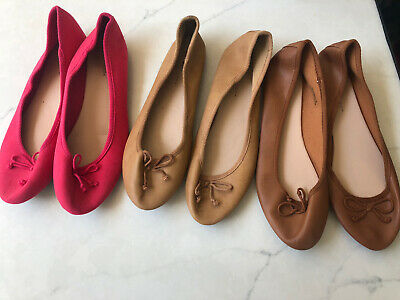 £9 • Buy 3 Pairs Of New Look Ballet Pumps Size 9 Pink, Tan, Brown (2 Pairs Hardly Worn)