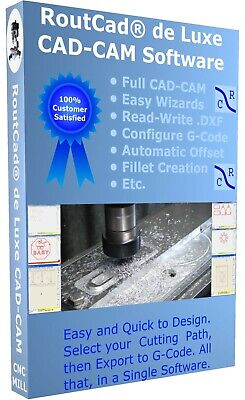 $160.13 • Buy CAD CAM Software Luxe CNC Mill Mach 3 EMC2 G-Code With Tutorial Video Download
